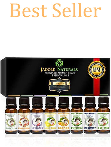 Aromatherapy Top 8 Essential Oils 100% Pure & Therapeutic Grade - Basic Sampler Gift Set & Kit