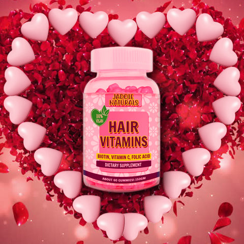 Hair Vitamins Pink Heart for Healthy Hair