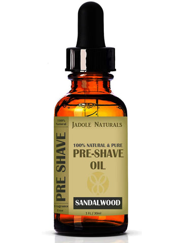 Jadole Naturals Pre-Shave Oil, Sandalwood, Premium Shaving Oil for Effortless Smooth Irritation-free Shave. 1 Oz