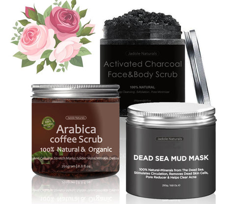 Dead Sea + Arabia + Charcoal Scrub Set