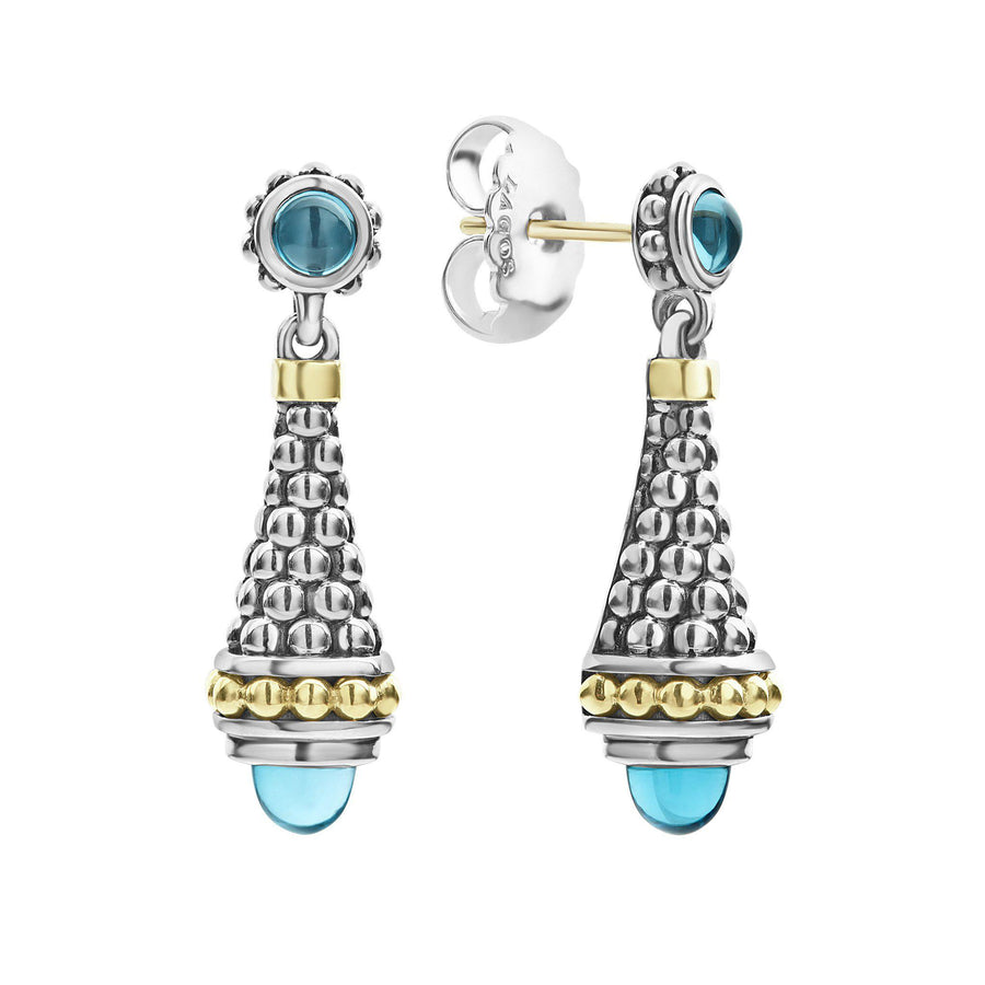 Lagos Signature Caviar Gemstone Drop Earrings-Bachendorf's Dallas - Fort Worth's Finest Designer Jewelry