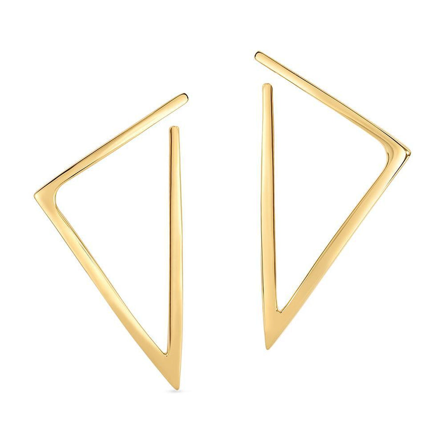 Roberto Coin Gold Triangle Earrings