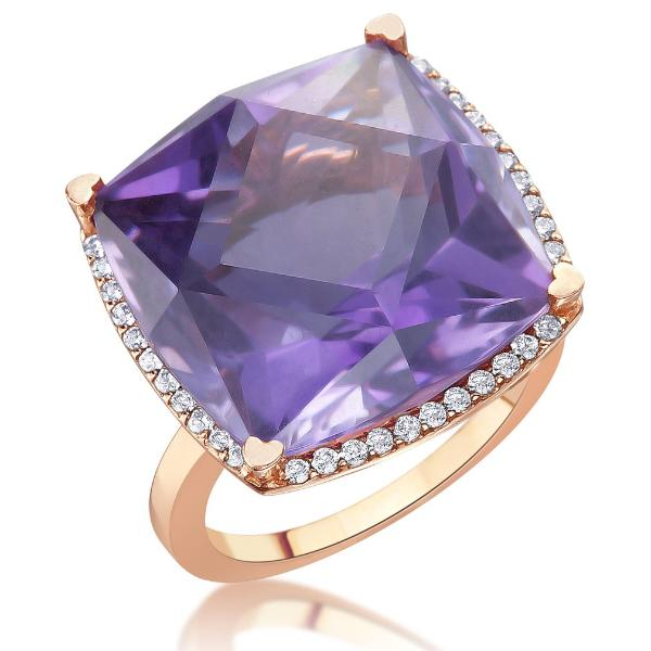 Lisa Nik Square Amethyst Ring-Bachendorf's Dallas - Fort Worth's Finest Designer Jewelry