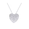 Diamond Pave Heart Pendant