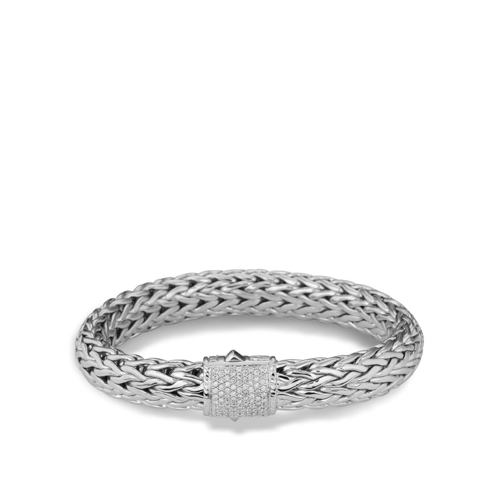Classic Chain Bracelet with Diamonds