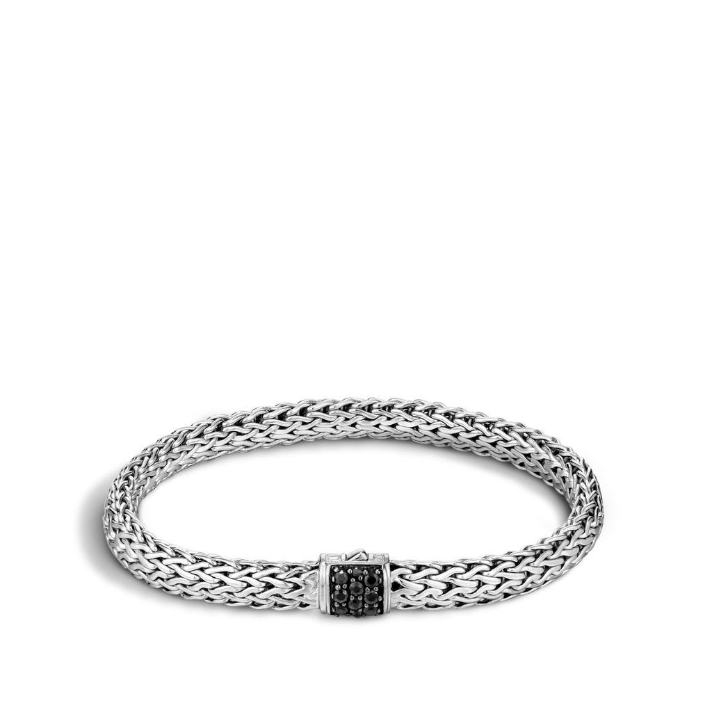 Classic Chain Bracelet with Black Sapphire 6.5MM