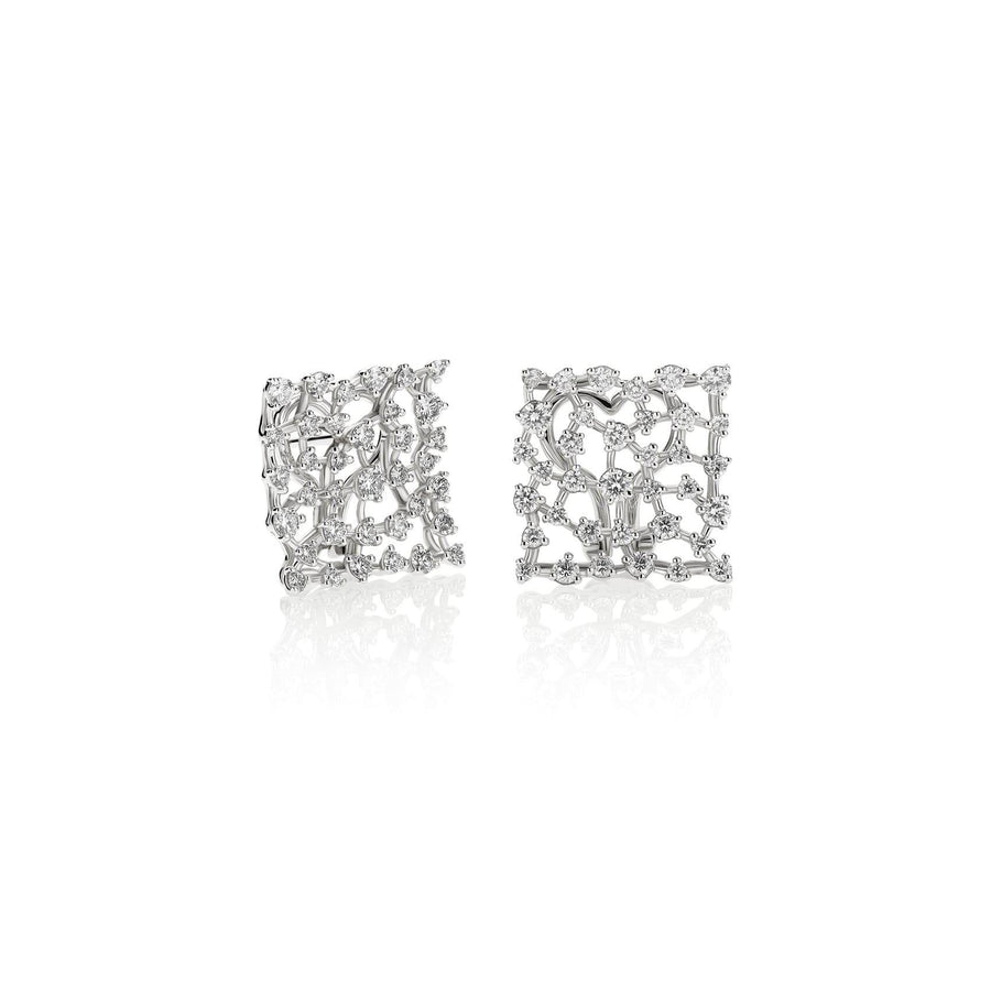 Casato Maureen Diamond Square Earrings-Bachendorf's Dallas - Fort Worth's Finest Designer Jewelry