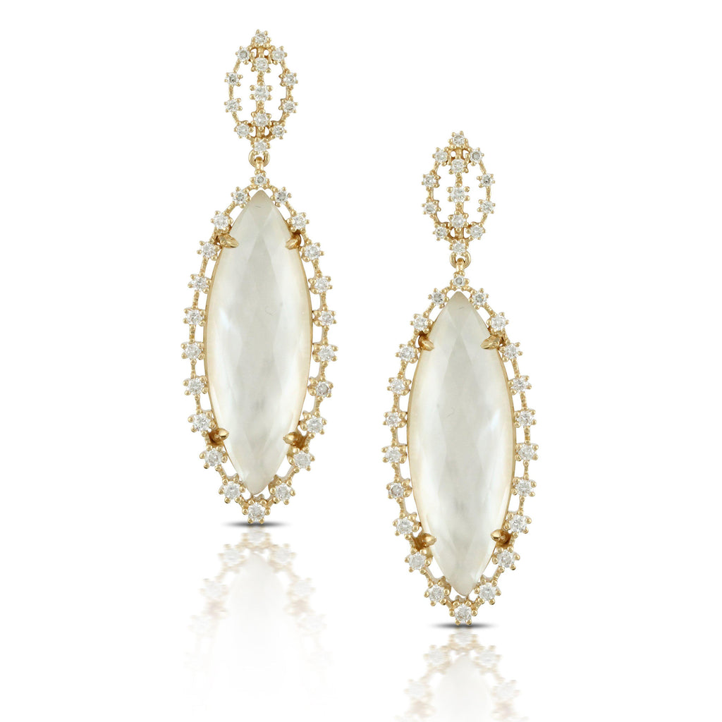 Doves White Orchid Drop Earrings-Bachendorf's Dallas - Fort Worth's Finest Designer Jewelry