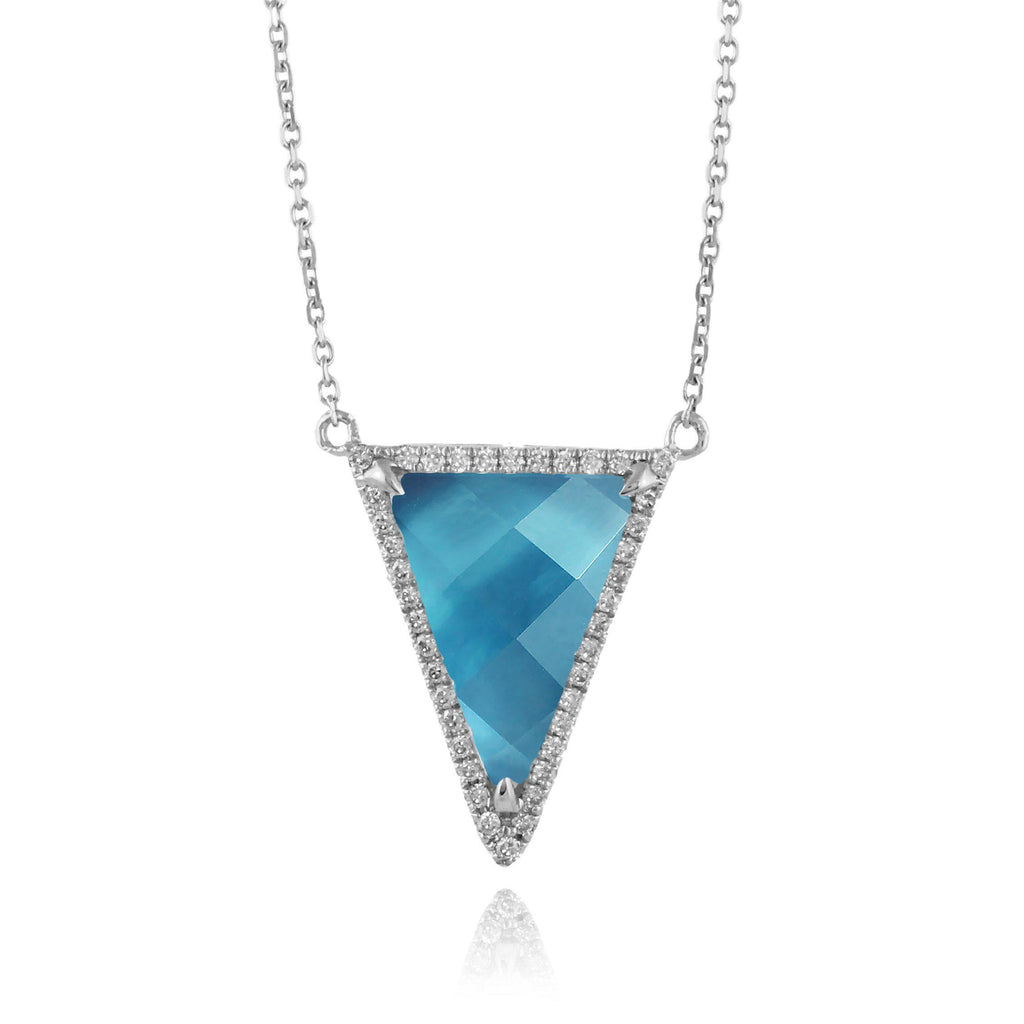 Doves London Blue Topaz Necklace-Bachendorf's Dallas - Fort Worth's Finest Designer Jewelry