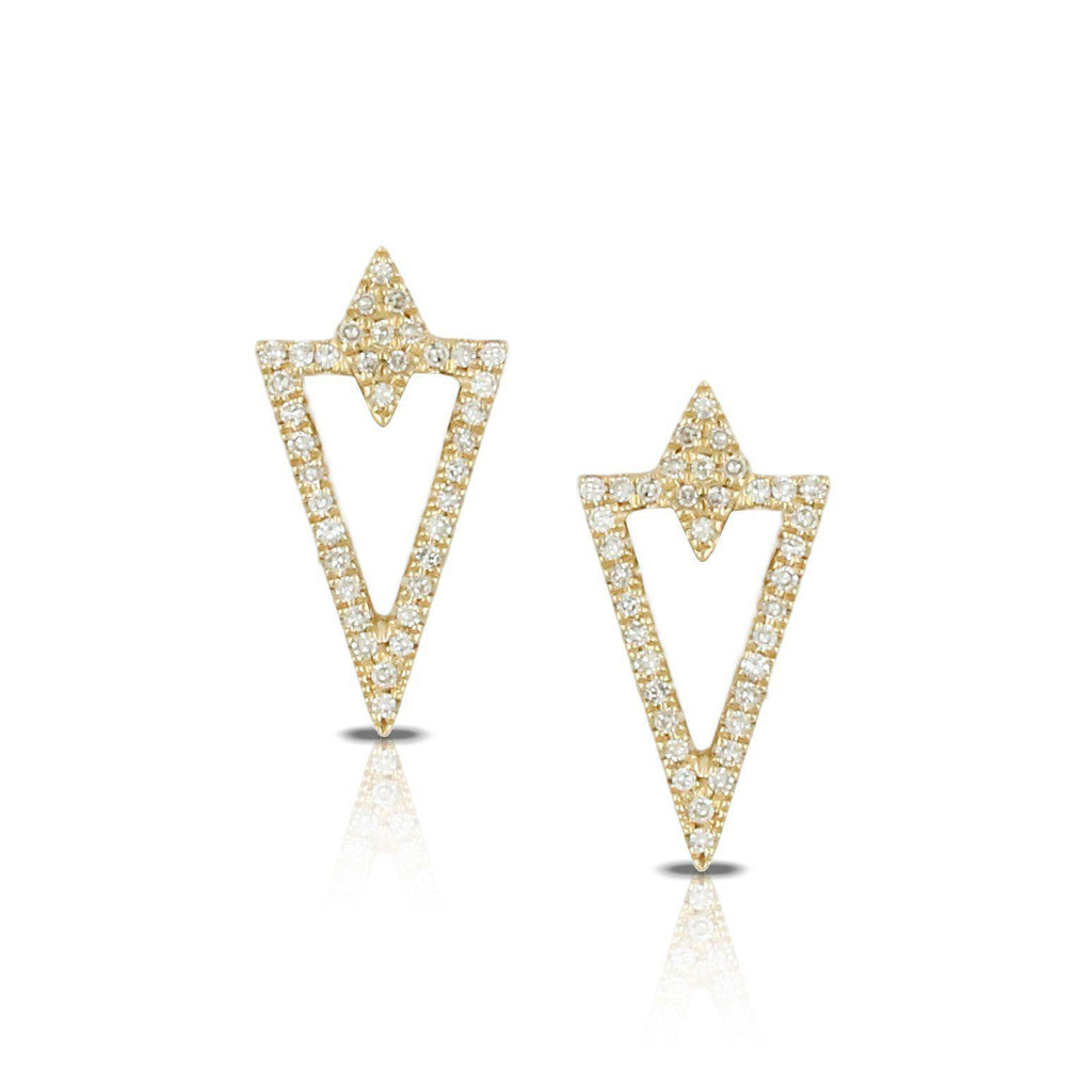 Doves Diamond Triangle Earrings-Bachendorf's Dallas - Fort Worth's Finest Designer Jewelry