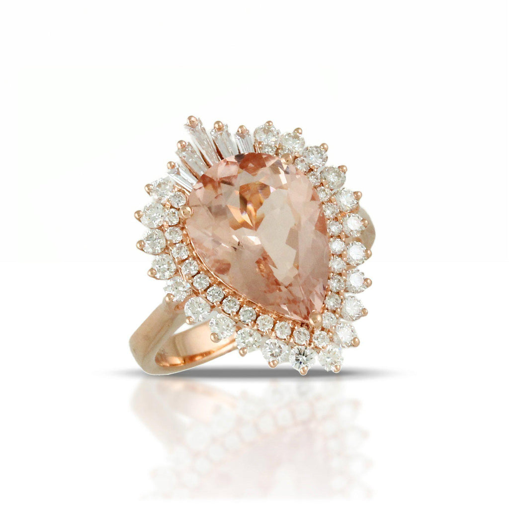 Doves Morganite and Diamond Ring-Bachendorf's Dallas - Fort Worth's Finest Designer Jewelry