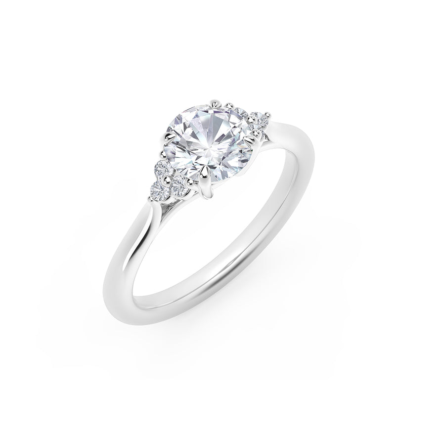 Forevermark Accents™ Engagement Ring with Triple Sides