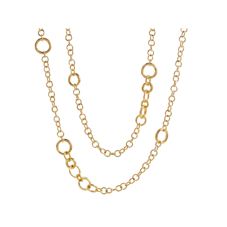 Gurhan Hoopla Chain Necklace, mixed link stations, 40""