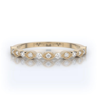 Henri Daussi Milgrain Wedding Band-Bachendorf's Dallas - Fort Worth's Finest Designer Jewelry