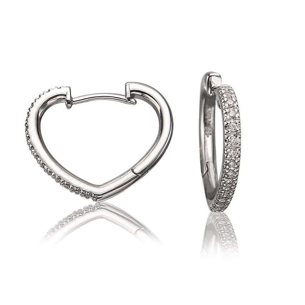 Lisa Nik Heart Shaped Hoops-Bachendorf's Dallas - Fort Worth's Finest Designer Jewelry