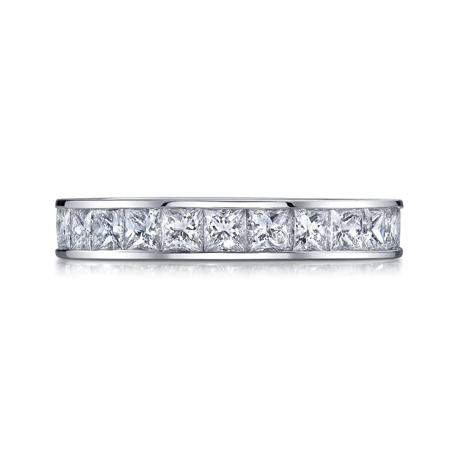 J11-00320 Princess Cut Eternity Band-Bachendorf's Dallas - Fort Worth's Finest Designer Jewelry