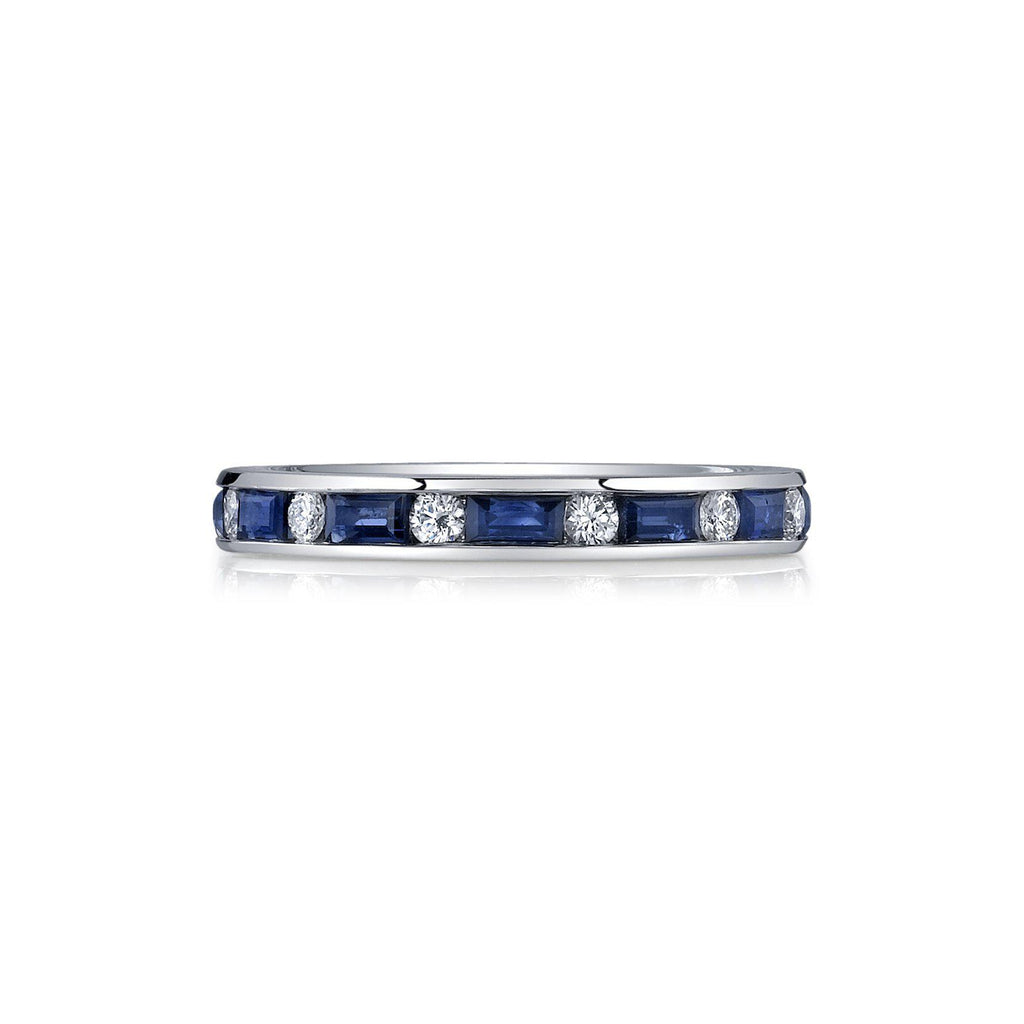 J11-00323 Sapphire and Diamond Eternity Band-Bachendorf's Dallas - Fort Worth's Finest Designer Jewelry