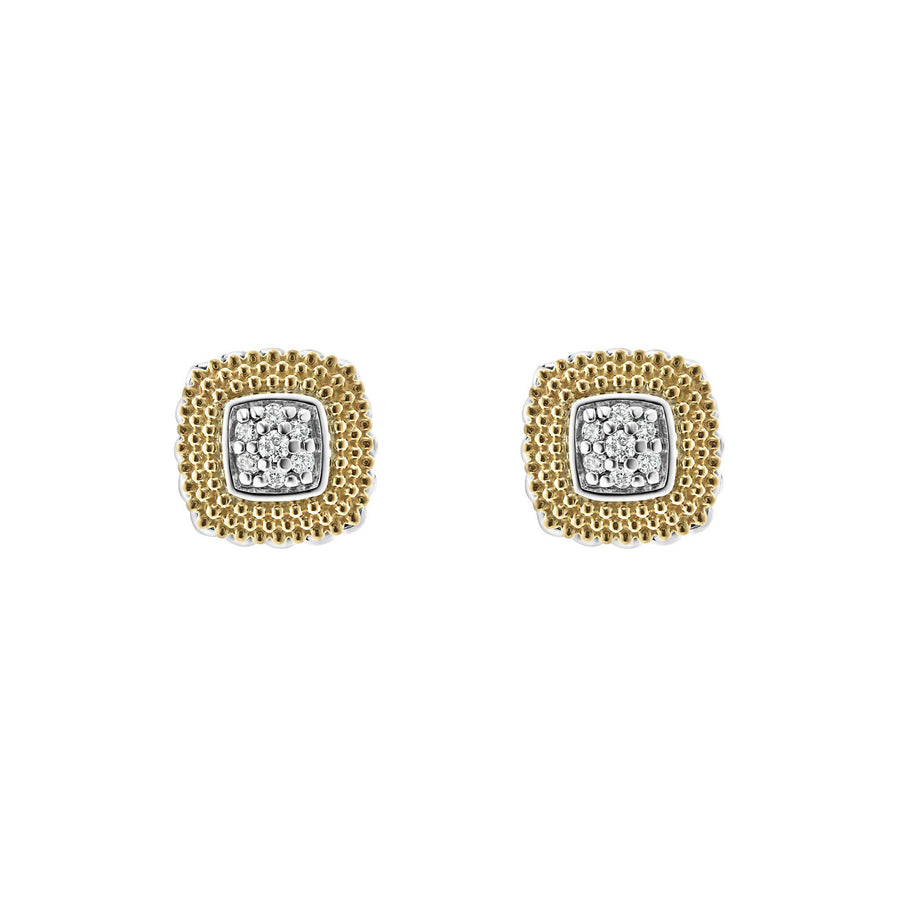 Lagos Diamond Lux Square Studs-Bachendorf's Dallas - Fort Worth's Finest Designer Jewelry