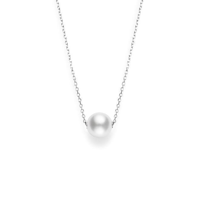 Mikimoto 18K White Gold Single Pearl