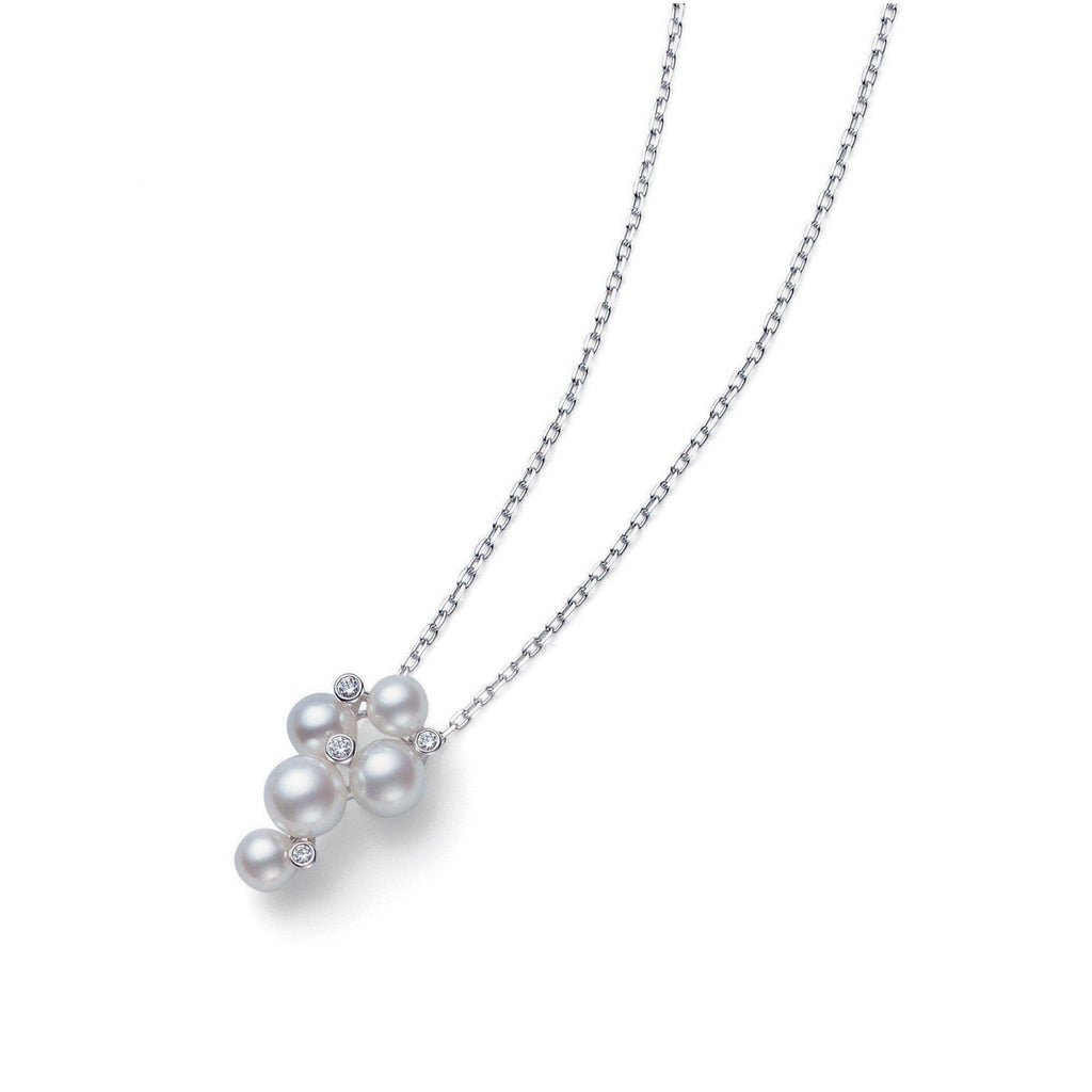 Mikimoto Japan Collection Pearl Cluster Pendant with Diamonds-Bachendorf's Dallas - Fort Worth's Finest Designer Jewelry