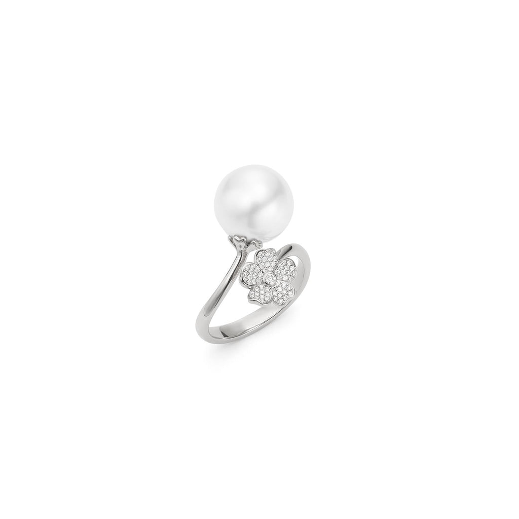 Mikimoto Cherry Blossom Pearl Ring with Diamonds-Bachendorf's Dallas - Fort Worth's Finest Designer Jewelry