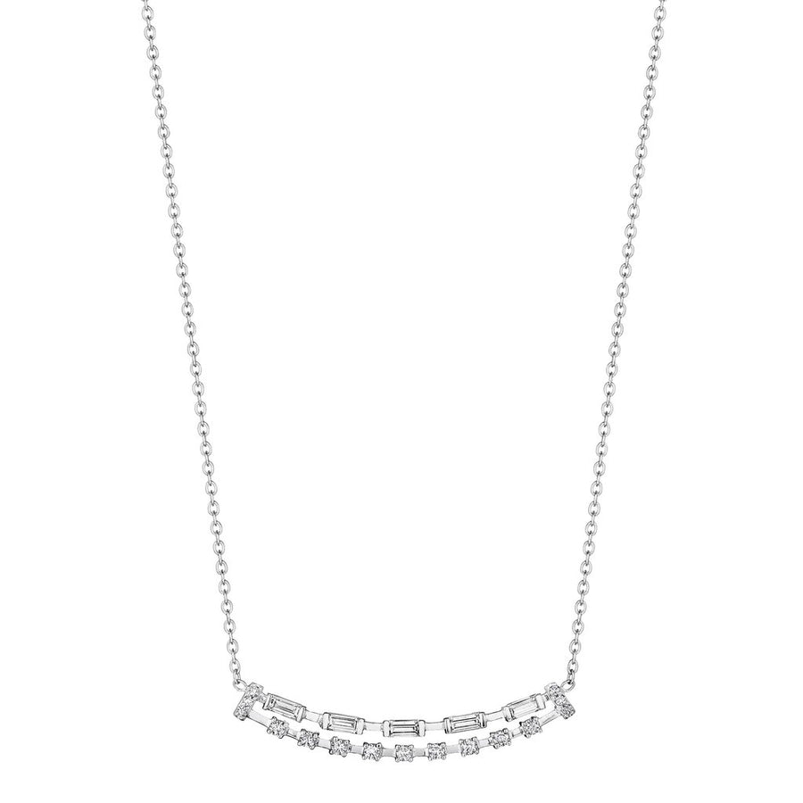 Penny Preville Baguette & Round Double Bar Necklace