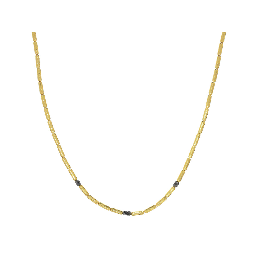Gurhan Vertigo Necklace, 3 Black Diamond Pave Stations, 16-18""