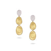 Marco Bicego 18K Yellow Gold & Diamond Pave Small Triple Drop Earrings