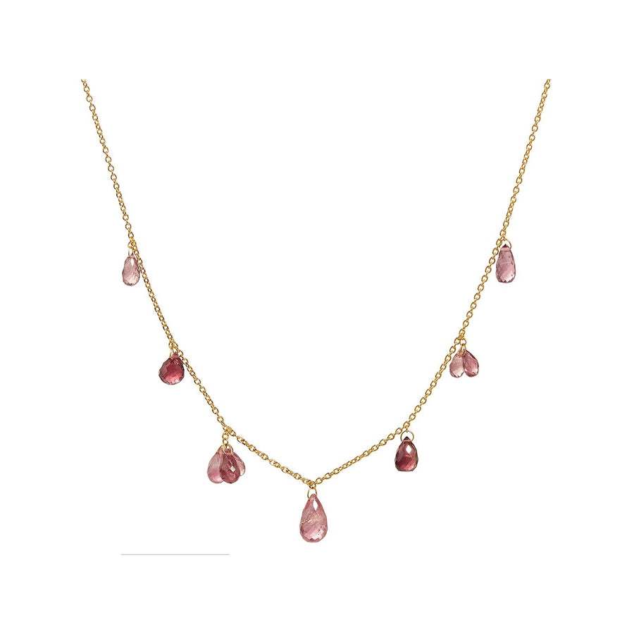 Gurhan One-of-a-kind Dew Hue Necklace, Pink Tourmaline briolettes, 16-18""