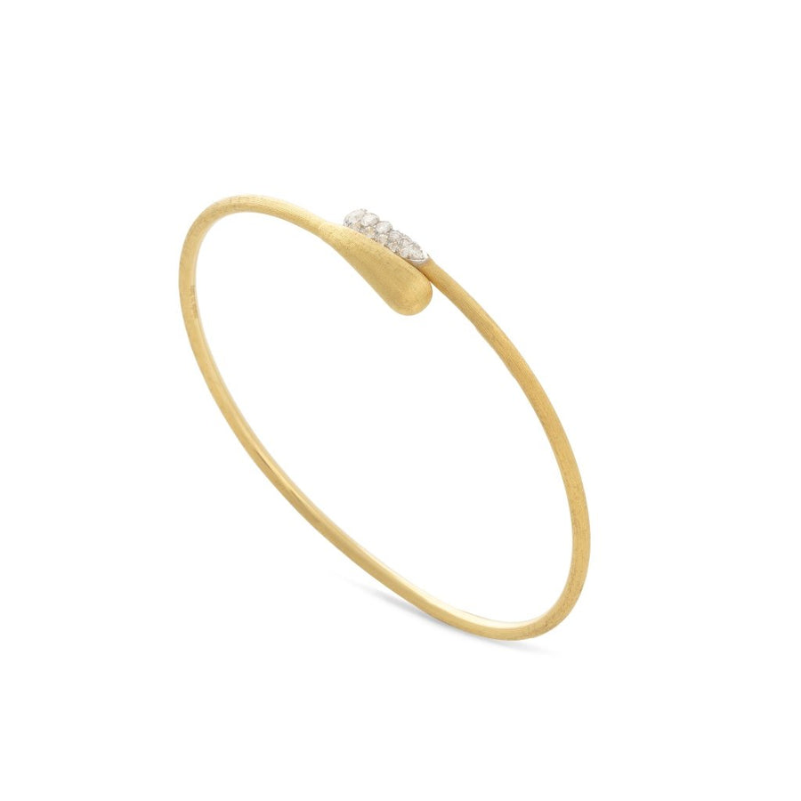 Marco Bicego Lucia 18K Yellow Gold and Diamond Hugging Cuff