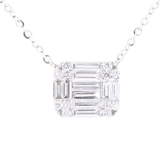 Rectangle Multi-Shape Diamond Pendant
