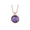 LISA NIK AMETHYST NECKLACE