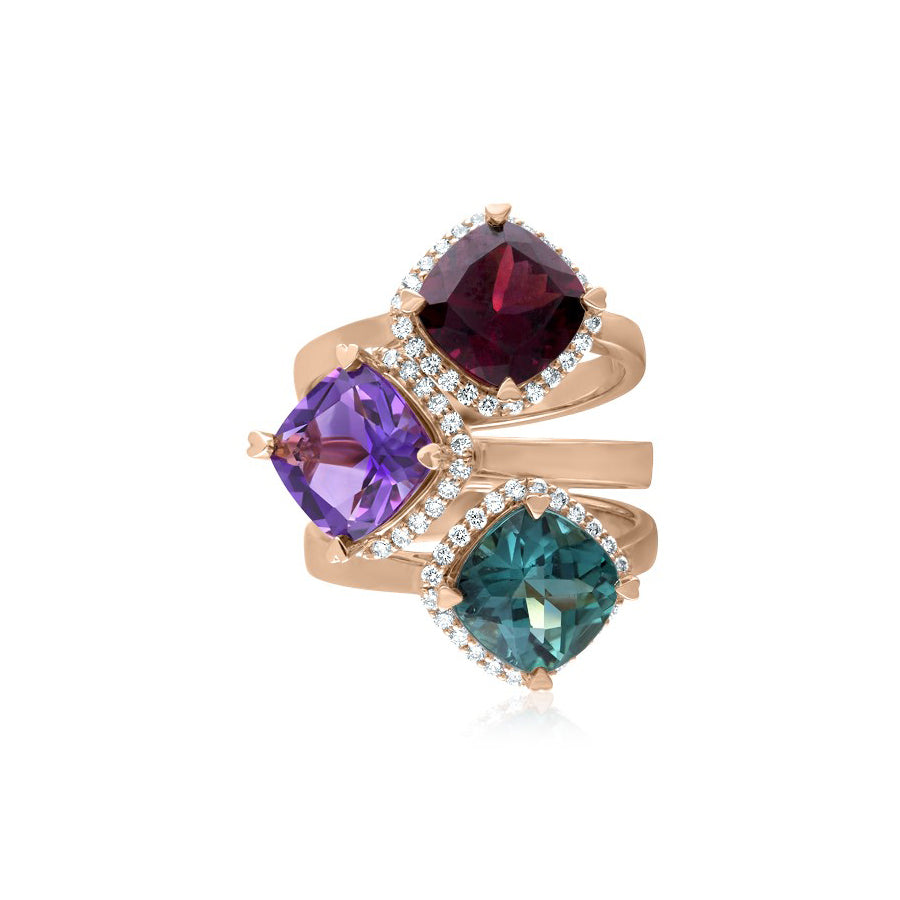 LISA NIK CUSHION SHAPED RING