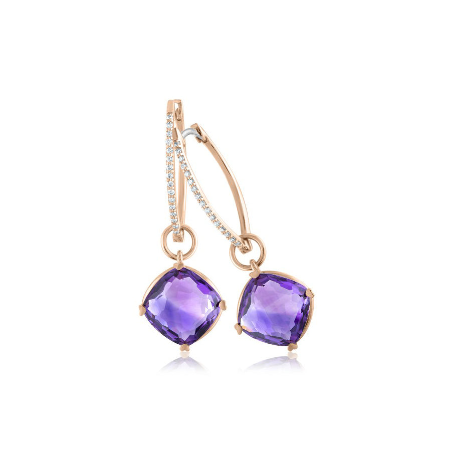 LISA NIK HOOPS AND CHARM EARRINGS