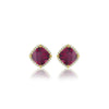 LISA NIK RHODOLITE GARNET EARRINGS