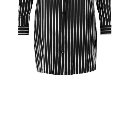 3XL-7XL Women Clothing  Office Lady Concise Black and White.