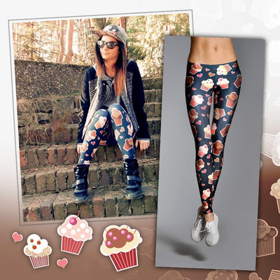3D Graphic Full Printing Women's Clothing teenage fitness Legging.