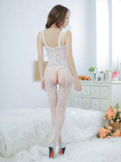 6 Colors  Sexy Lace Mesh  Sexy Lingerie Gauze Women Exposed Breast Jumpsuits.