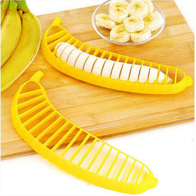 Kitchen Gadgets Plastic Banana Slicer Cutter Fruit