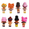 8Pcs/set Kawaii Boneca Collectable Action Figure 8-9cm lol Doll.