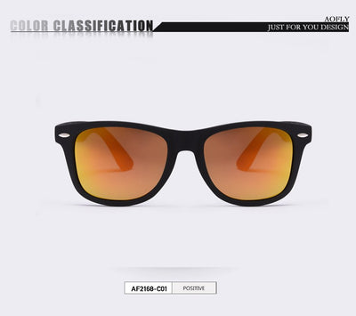 Driving Mirrors Coating Points Black Frame Eyewear Male UV400.