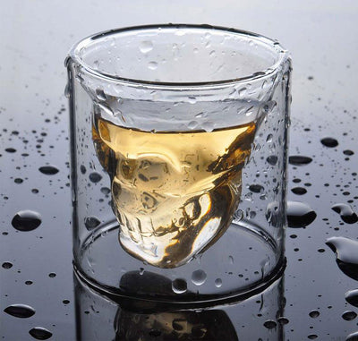 4Pcs/Set 75ml  Creative Skull Shot Glass Beer Cup.