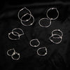 Big Circle Hoop Earring Ball Pendant Earrings Set For Women Round  Jewelry 6 Pairs/Set.