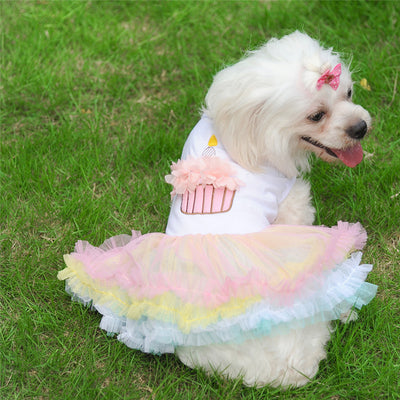 Colorful Sweet Puppy Dog Princess.