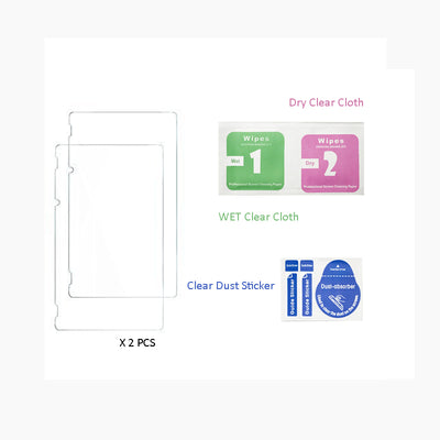 12 in 1 HD Tempered Glass Screen Protector +NS Storage Bag With 6pcs Silicone Caps.