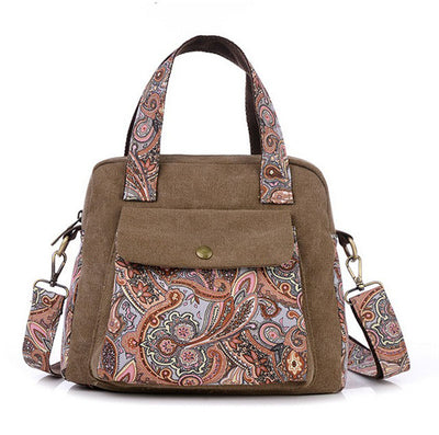New Retro women's handbag canvas flower bag women.