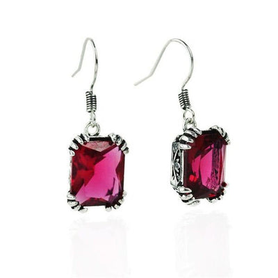 4 Colors stone Fashion Jewelry Silver Earring For Women.