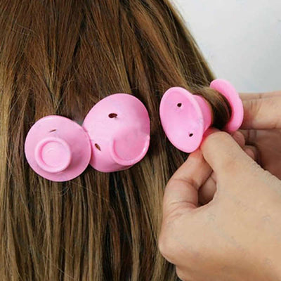 Pink magic Curling hair tool (no clip and hot silicone)