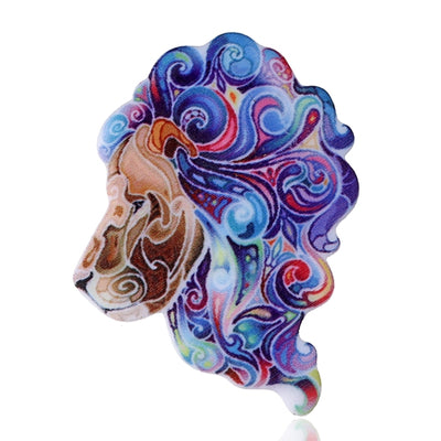 Acrylic Brooch animal Brooches  Lion monkey Cow penda Tiger.