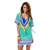 Dashiki Dress Beach Vestidos Slim Dress.